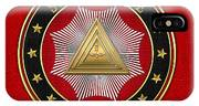 20th Degree - Master Of The Symbolic Lodge Jewel On Red Leather IPhone Case