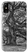 Angel Oak Tree In Black And White IPhone Case