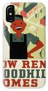 New Deal Wpa Poster IPhone Case
