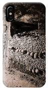 Skulls And Bones In The Catacombs Of Paris France IPhone Case