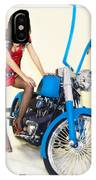 Models And Motorcycles IPhone Case