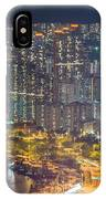 Hong Kong At Night IPhone Case