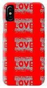 25 Affirmations Of Love In Red IPhone Case