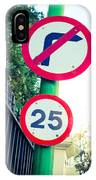 25 Mph Road Sign IPhone X Case