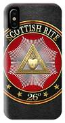 26th Degree - Prince Of Mercy Or Scottish Trinitarian Jewel On Black Leather IPhone Case
