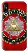 26th Degree - Prince Of Mercy Or Scottish Trinitarian Jewel On Red Leather IPhone Case