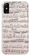 Handwritten Sheet Music, Music Notes IPhone Case