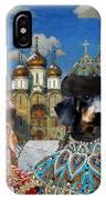 Dachshund Art Canvas Print IPhone Case