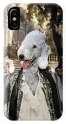 Bedlington Terrier Art Canvas Print IPhone Case