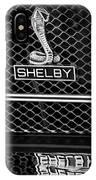 1969 Shelby Gt500 Convertible 428 Cobra Jet Grille Emblem IPhone Case