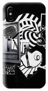 2d Elements In Black And White IPhone Case