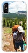 A Backpacker Hiking IPhone Case