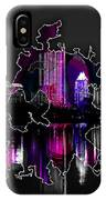 Atlanta Map And Skyline Watercolor IPhone Case