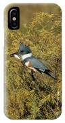 Belted Kingfisher With Fish IPhone Case