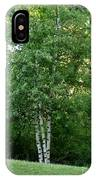 3 Birch Trees On A Hill IPhone Case