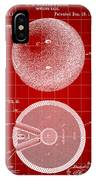 Bowling Ball Patent 1894 - Red IPhone Case