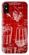 Cocktail Mixer And Strainer Patent 1902 - Red IPhone Case