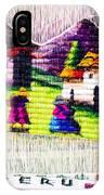 Colorful Fabric At Market In Peru IPhone Case