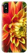 Dahlia Named Swan's Sunset IPhone Case