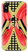 Dancing Tulip Red Exotic Flower Petal Based Wave Pattern  Created By Navinjoshi Reiki Healing Master IPhone Case