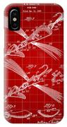Fish Lure Patent 1933 - Red IPhone Case