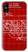 Flying Machine Patent 1903 - Red IPhone Case