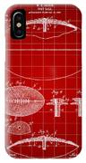 Football Patent 1902 - Red IPhone Case