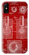 Golf Ball Patent 1902 - Red IPhone Case