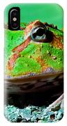 Green Fantasy Frogpacman Frog IPhone Case