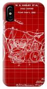 Harley Davidson Motorcycle Patent 1925 - Red IPhone Case