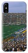 High Angle View Of A Football Stadium IPhone Case