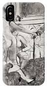 Illustration From La Maison Tellier By Guy De Maupassant IPhone Case