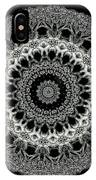 Kaleidoscope Ernst Haeckl Sea Life Series Black And White Set 2 IPhone Case