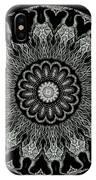 Kaleidoscope Ernst Haeckl Sea Life Series Black And White Set On IPhone Case