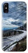 Linn Cove Viaduct During Winter Near Blowing Rock Nc IPhone Case