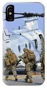 Marines Board A Ch-46e Sea Knight IPhone Case