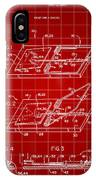 Mouse Trap Patent - Red IPhone Case
