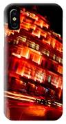 Moving Fast In The Town At Night  IPhone Case