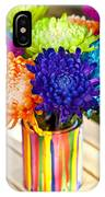 Multicolored Chrysanthemums  IPhone Case