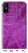 Munich Street Map - Munich Germany Road Map Art On Colored Backg IPhone Case