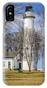 Pointe Aux Barques  Lighthouse IPhone Case