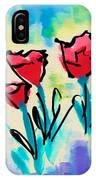3 Poppies IPhone Case
