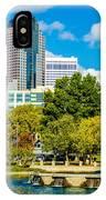 Skyline Of A Modern City - Charlotte North Carolina Usa IPhone Case