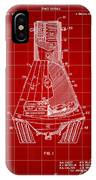 Space Capsule Patent 1959 - Red IPhone Case