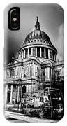 St Pauls Cathedral London Art IPhone Case