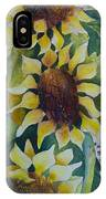 3 Sunflowers IPhone Case