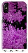 Sydney Street Map - Sydney Australia Road Map Art On Colored Bac IPhone Case