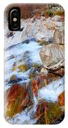 Vibrant Colored Rocks Verzasca Valley Switzerland IPhone X Case
