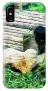3722-panda -  Oil Stain Sl IPhone Case