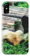 3722-panda -  Pastel Chalk 2  IPhone Case